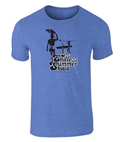 the-endless-summer-1964-icon-grafik-unisex-t-shirt-offiziell-lizenziert-von-bruce-brown-films-blau-l