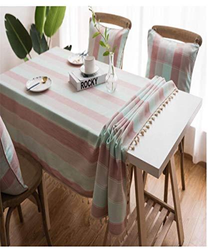 SONGHJ Streifen wasserdichte Küchentischdecke Tischdecke Rechteckige Tischdecken Esstisch Abdeckung C 140x220cm