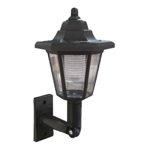 Kingavon Solar – Farol de pared, color negro