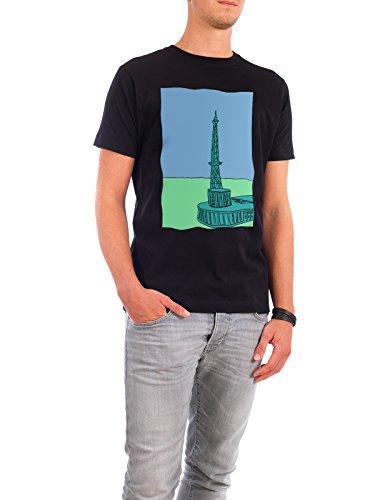 """Design T-Shirt Männer Continental Cotton """"Funkturm Berlin türkis"""" - stylisches Shirt Städte / Berlin Architektur von Fischli Schwarz"""