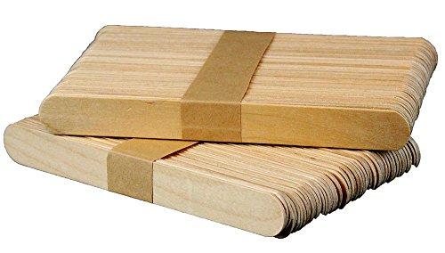 Holzspatel zum Auftragen von Wachs und Zuckerpaste für die Haarentfernung - 100 Stück - 2x15 cm