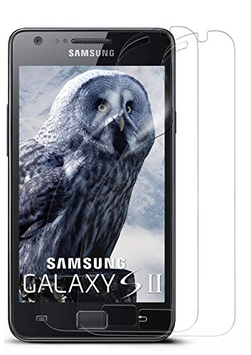 moex 2X Samsung Galaxy S2 | Schutzfolie Klar Display Schutz [Crystal-Clear] Screen Protector Bildschirm Handy-Folie Dünn Displayschutz-Folie für Samsung Galaxy S2 / S2 Plus SII Displayfolie