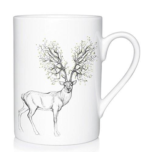 We Love Home - Große Tasse aus Porzellan 25 cl Modell Forest Dreams nordischer Stil