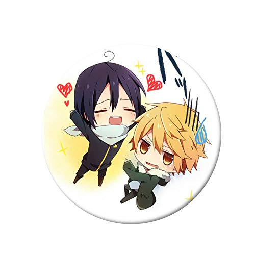 Haushele OFD 1 stücke Anime Noragami Aragoto Yato Cosplay Abzeichen Brosche Yukine Sammlung Abzeichen für Rucksack Kleidung(H09)