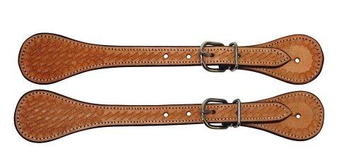 Kerbl Correas para espuelas western, de cuero, marrón, por pares
