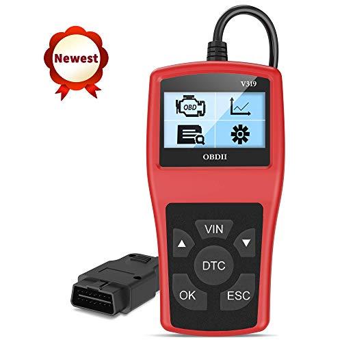 OBD2 Diagnosegerät Auto Fahrzeug Fehlercodeleser OBD II Diagnose Scanner arbeitet an Allen Autos mit OBD2/EOBD/CAN-Modi mit 16-Pin OBDII-Schnittstelle für Lesen und Löschen Fehlercode/Batterie Test