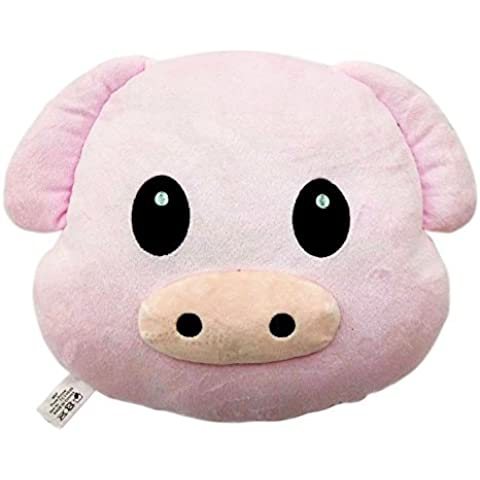 WEP Pig Piggy Emoji Pillow Smiley Emoticon Cushion Stuffed Colorful