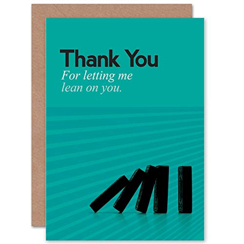 NEW FRIENDSHIP LEAN ME DOMINO ART GREETINGS GREETING CARD GIFT CP1802