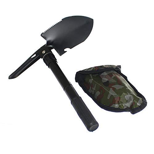 1 mini Klappspaten mit Tasche schwarz Spaten klappbar Feldspaten Schaufel Hacke Säge Off Road Old-Harvest (Off-road Schaufel)
