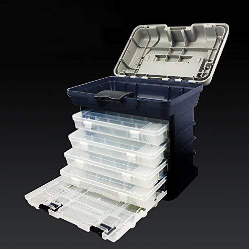 Uteruik Angelzubehör-Box, tragbar, 4 Ebenen, Angelbox, Meeresboot, Angelzubehör, Box mit Griff, 1 Stück (t-#26)
