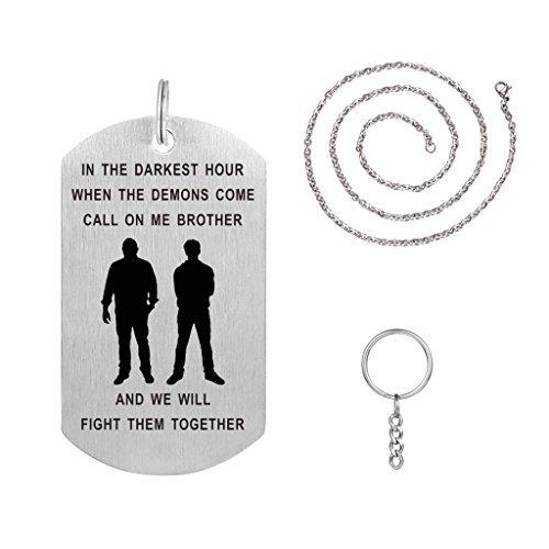 Freedom Love Geschenk Big Brother Geschenk von Brother Dog Tag Halskette Schlüsselanhänger Idea für Männer Jungen personalisiert