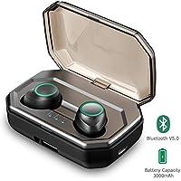 Écouteurs Bluetooth 5.0 Vigorun Oreillette sans Fil Sport 3000mAh Etui de Charge Autonomie 100H Stéréo IPX6 CVC 8.0 Réduction du Bruit Casque Mains-Libres Mic pour iPhone Samsung Huawei iPad Tablette
