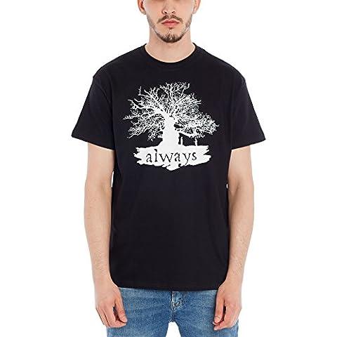 T-shirt Harry Potter Always (toujours) Elbenwald coton noir - XXXL