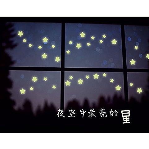 Etiqueta engomada de la pared de la decoración del dormitorio de la pared de estrellas luminosas pegatinas fluorescentes , printing