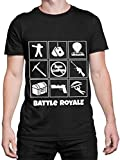 Battle Royale Camiseta para Hombre Gaming Negro Talla XX-Large