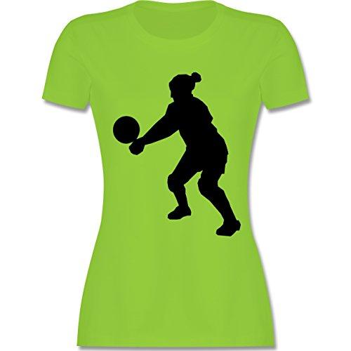 Volleyball Volleyball tailliertes Premium TShirt mit Rundhalsausschnitt für  Damen Hellgrün
