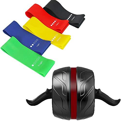 Arkmiido AB Roller para Fitness, AB Carver Pro autorretráctil, Rodillo para ejercicios AB con rodillera...