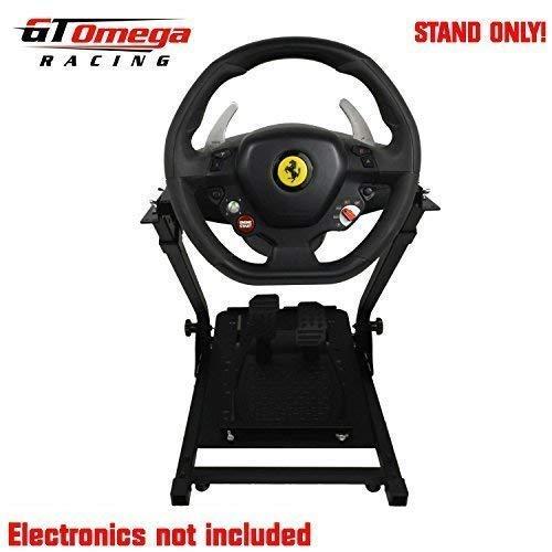 GT Omega Lenkradständer PRO für Thrustmaster TX Racing Lenkrad Ferrari 458 Italia Edition, T80 / T150 - Xbox One, PS4, PC - Faltbar und Neigungsverstellbar für Spielekonsolen-Erlebnis