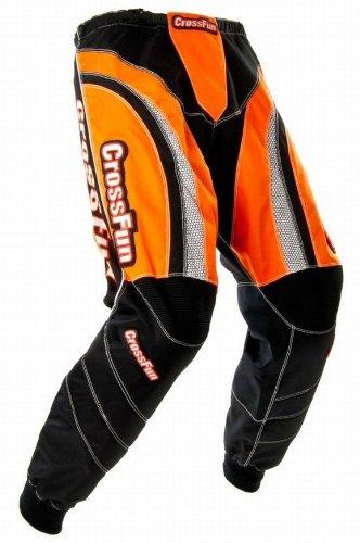 Kinder Motocross Hose orange weis schwarz Gr. 152/164