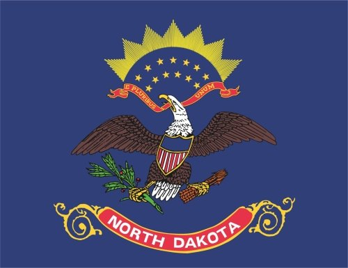 KIWISTAR Aufkleber - North Dakota Bismarck - Bundesstaat USA Autoaufkleber Sticker State Flagge -