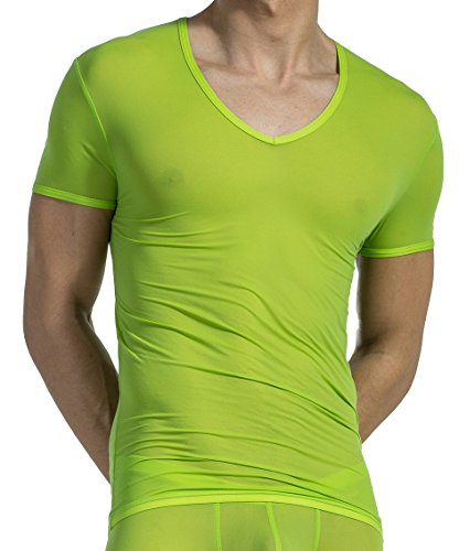 Olaf Benz Herren Unterhemd RED0965 V-Neck low Kiwi