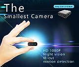 Zantec Mini Telecamera IR-Cut Telecamera 1080P Full HD Telecamera a infrarossi per la Visione Notturna a infrarossi con Telecamera di Movimento Micro Cam XD with Battery