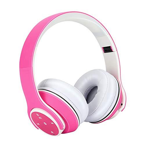 Bass Stereo Teleskoparm Noise Cancelling Kopfhörer Over-Ear Kopfhörer, Faltbarer Bluetooth-verbindung Lightweight Sport-headsets-rosa Rosa Bluetooth Headset
