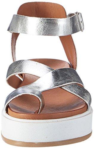 Inuovo Damen 7457 Plateausandalen Silber (Silver)