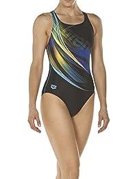 838a575dc9755e arena Damen Sport Badeanzug Prisma (Schnelltrocknend, UV-Schutz UPF 50+,  Chlorresistent