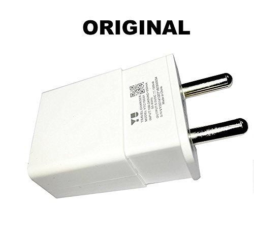 MIMOB 100% Original Micromax Yu YTC15C01 1.5A Fast Wall Home Travel Charger (WHITE) with USB Data Cable for All Micromax & Yu Yureka , Yuphoria, Yunicorn Phones