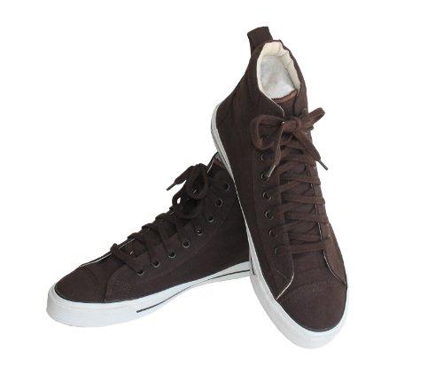 Bequeme und stylishe Herren Trachten Sneaker dunkelbraun Gr. 43