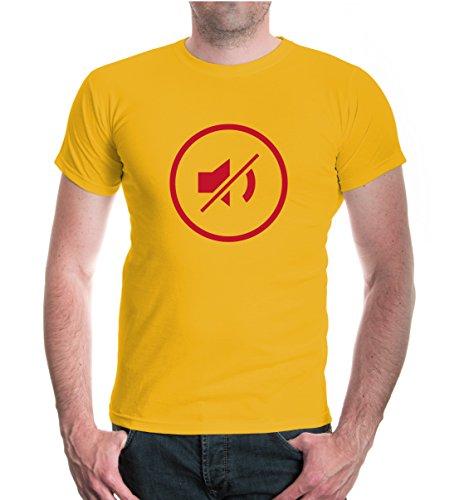 buXsbaum® T-Shirt Volume-off-Piktogramm Sunflower-Bordeaux