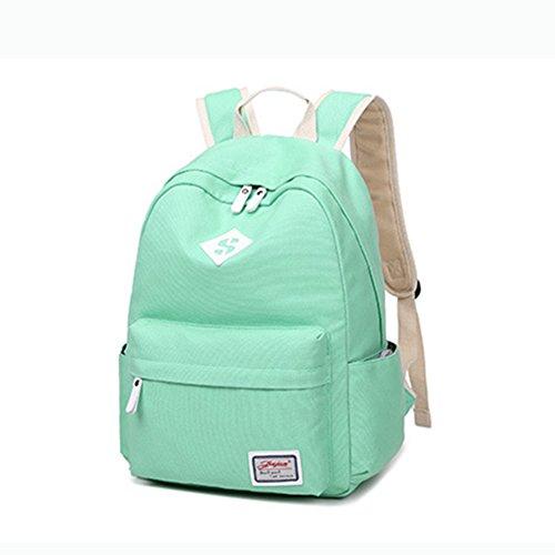 15d8e18461a44 Mädchen Schulrucksack Damen Rucksack Teenager Schultasche Daypacks Für  Universität Outdoor Freizeit Pink Grün