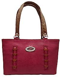 Ranbed Womens Leather Handbag_Pink