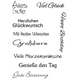 Bastelei Scrapbooking-Werkzeug Schneiden Schablonen Silikon Stempel Set ECMQS F/ür Immer Liebe DIY Transparente Briefmarke Clear Stamps