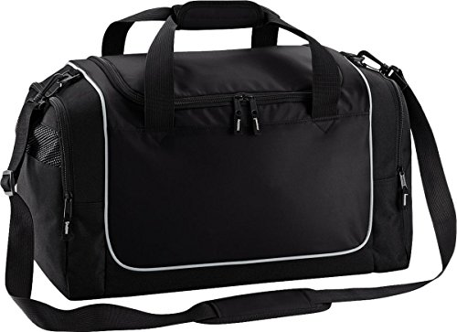 Quadra Sport Reisetasche Aufbewahrung Reise Gepäck Duffle Teamwear Spind Tasche One Size - Black/ Light Grey