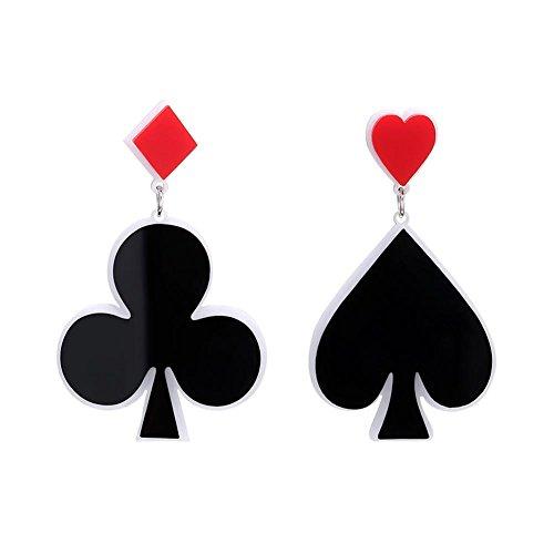 Aediea Poker Pik Clubs Acryl Drop Ohrringe Frauen Creative Jewelry