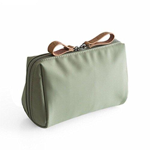 Simple imperméable Sac de rangement de maquillage Mini Portable Petit paquet carré Sac à main vert