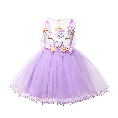Mxssi Einhorn Party Kleider Kinder Halloween Weihnachten Cosplay Kostüm Für Kinder Blumenmädchen Hochzeitskleid Für Mädchen Prinzessin Kleid