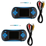 MagiDeal 2 Pieces RS-16 2.5'' Classic 8Bit Color Display Portable Video Games Built In 260 Games Console Game Player With Screw Blue