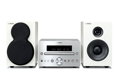 Yamaha MCR-332 Mikro-Komponentensystem (VCCS-Technologie, USB) für Apple iPod/iPhone/iPad silber/weiß (Yamaha Ipod)