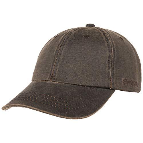 Stetson Statesboro Old Cotton Cap Herren - Baseballcap mit UV-Schutz 40+ - Mütze mit Baumwolle in Vintage Lederoptik - Basecap Frühjahr/Sommer braun S/M (54-57 cm)