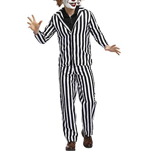 Kostüm Up Dress Schwangere - Dicomi Herrenkostüm Erwachsenenanzug Das Halloween Cosplay Kostüm Dress Up Outfit Weiß M