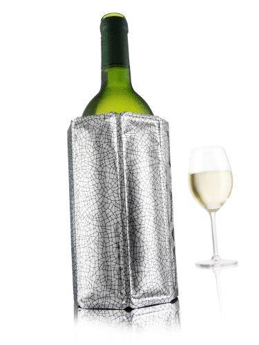 Vacu Vin 38803606 Aktiv Kühler Motiv Silber 0,7  - 1,0 Liter - Wein Französisch Rack