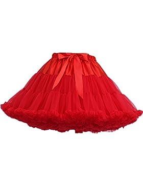 FOLOBE Traje de Tutú de Mujer Danza de Ballet Falda Hinchada de Múltiples Capas Adulto Lujoso Falda de Gasa Suave...