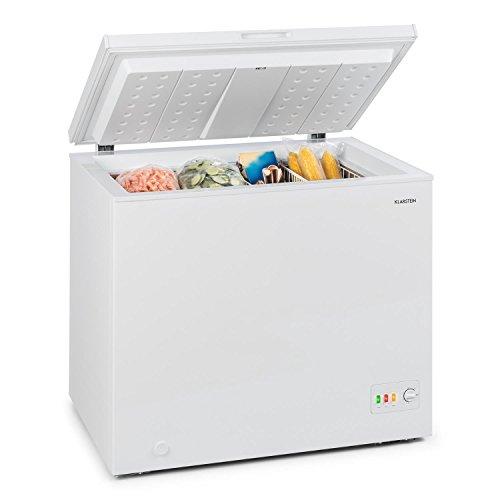Klarstein Iceblokk 200 - Gefrierschrank, Gefriertruhe, Tiefkühltruhe, 200 L, 42 dB, freistehend, 2 x Hängekorb, 1 x Eisschaber, weiß