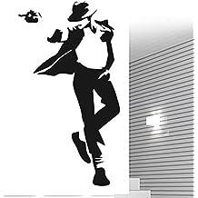 Vinilo Decorativo Michael Jackson 2.(95x60cm aprox.) color negro.
