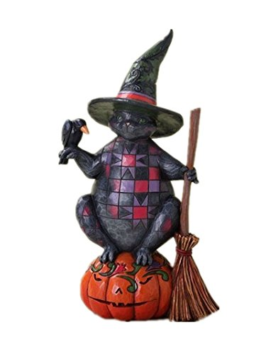Enesco 4027794 Jim Shore Heartwood Creek Halloween Cat Figurine, 7-3/4-Inch by Enesco (Halloween Jim Shore)