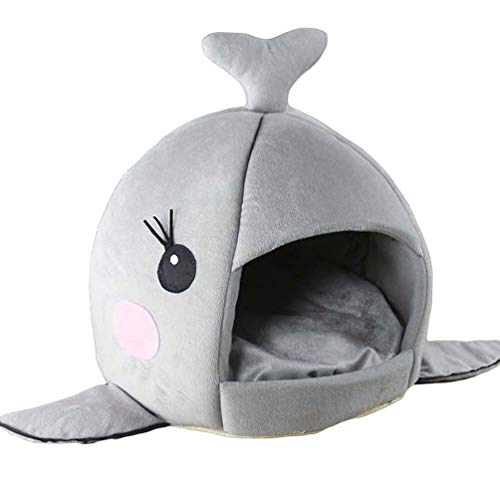 JEELINBORE Maison Niche de Chien Chats Rond Lit de Requin Panier Souple Chaud pour Chiot (Rosa #1,...