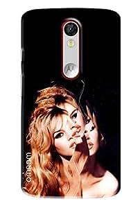 Omnam Bollywood Divas Effected Printed Designer Back Cover Case For Motorola Moto X Force